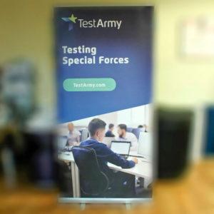 Stojak na ulotki test army