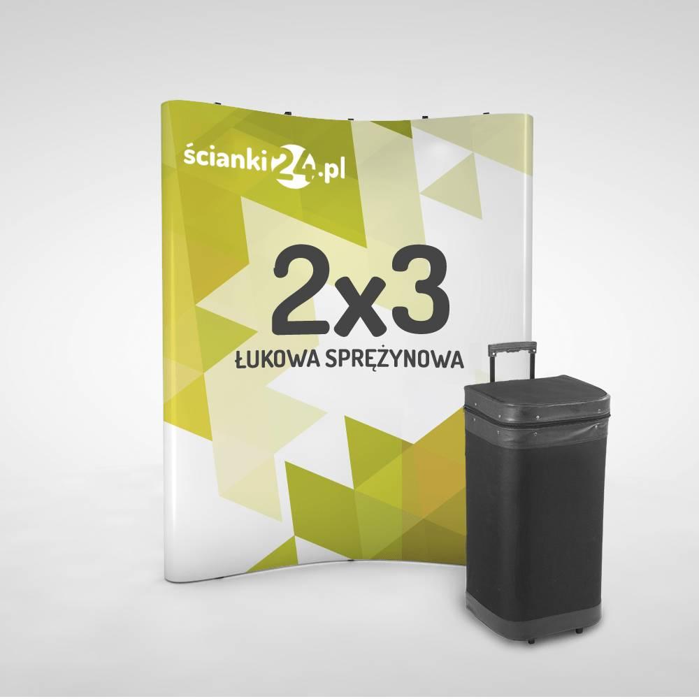 scianka reklamowa pop-up łukowa 2×3