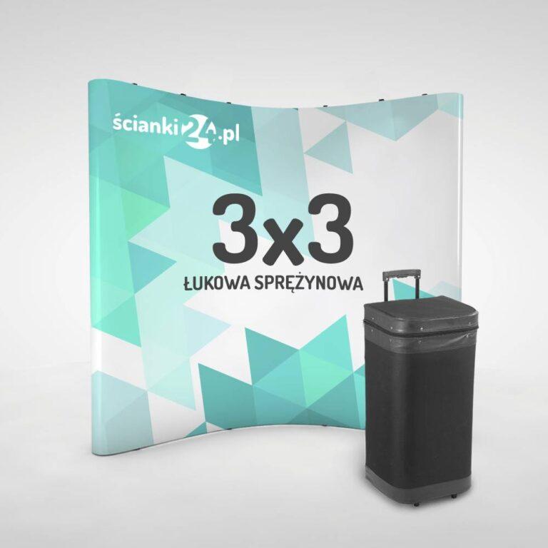 scianka reklamowa pop-up łukowa 3x3