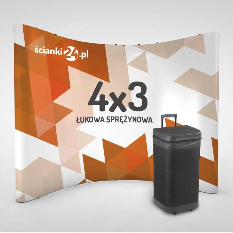 scianka reklamowa pop-up łukowa 4x3