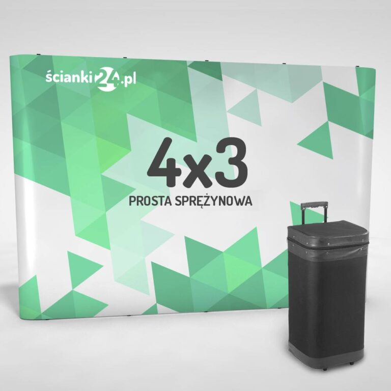 scianka reklamowa pop-up prosta 4x3