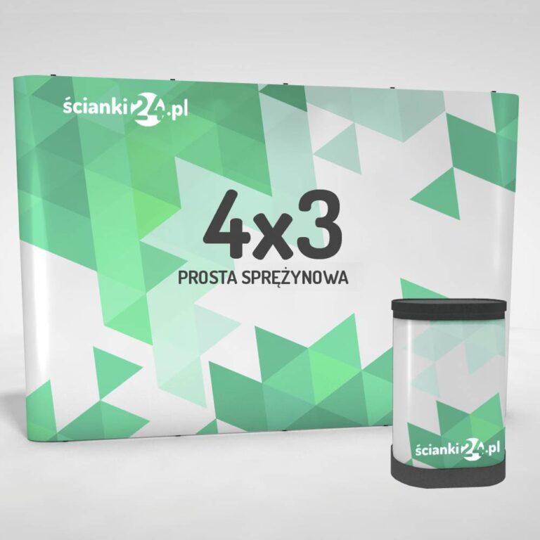 scianka reklamowa pop-up prosta 4x32